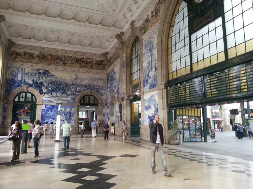 Porto's tiled railway station