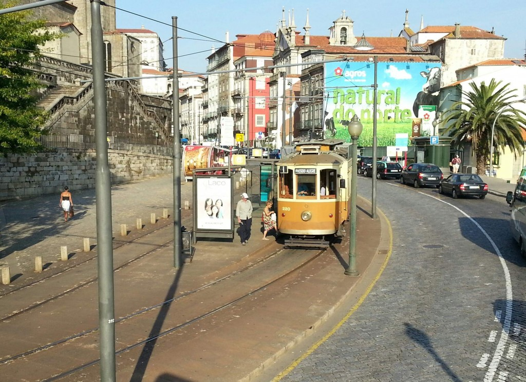 Taking a tram is a lovely, relaxed way of travelling around Porto