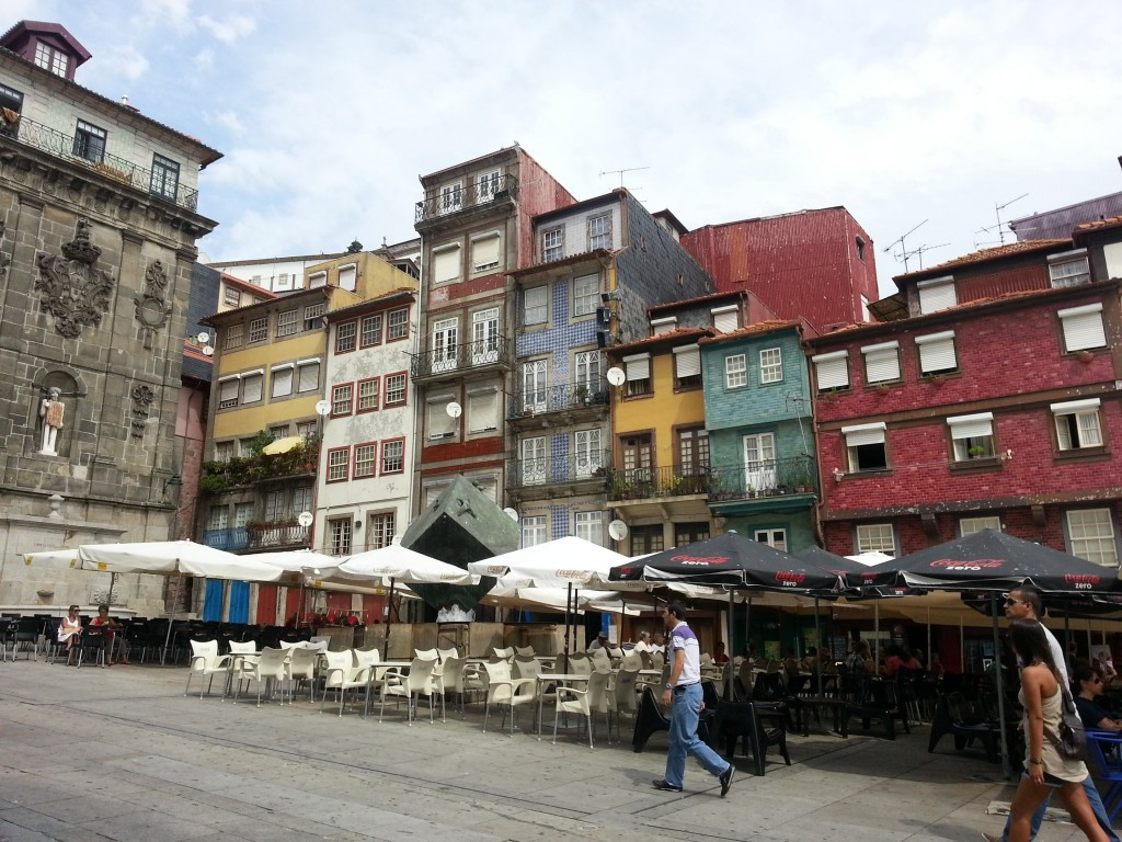 Ribeira tiled houses in Porto
